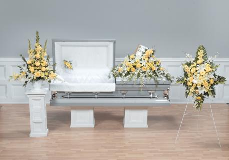 Yellow and White Sympathy Package