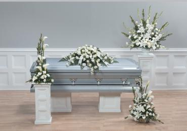 White funeral arrangements