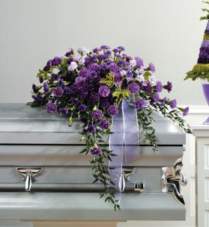 Purple Casket Spray