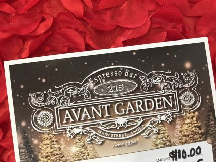 $10 Avant Garden Coffee House Gift Card