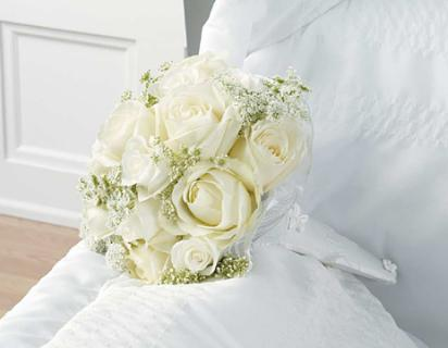 White Rose Sympathy Bouquet